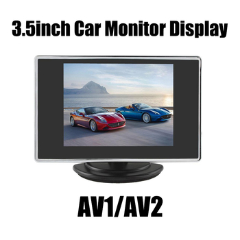 3.5 Inch Mini TFT LCD Monitor 3.5 Display Screen Car Reverse Backup Parking Monitor for Car Rearview Rear View Camera DVD image