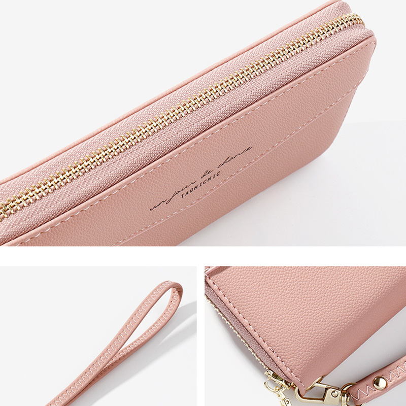 Купить с кэшбэком Essential Leather Wallets for Women 2020 Slim Continental Handy Wallet Black Large Capacity Money Organizer wallets Lady Clutch