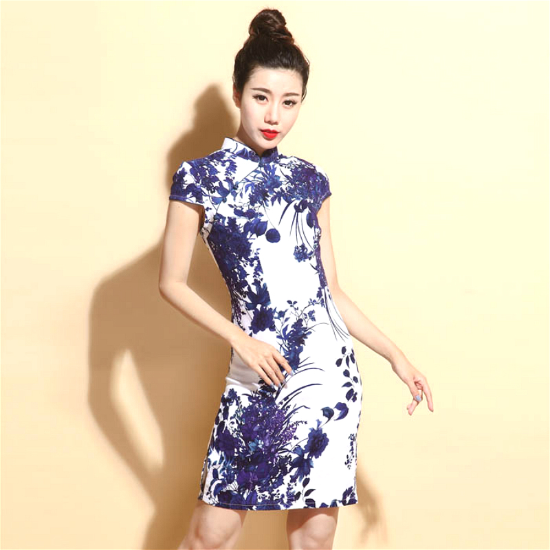 China Dresses Qipao Cheongsam Cotton Linen Mujer Vestidos Plus Size for Women Short 3XL 4XL 5XL Summer New Arrival-in Cheongsams from Novelty & Special Use
