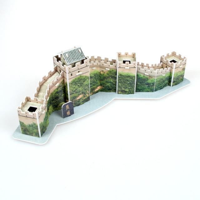 Tourist souvenirs world famous building model three dimensional early education 3D jigsaw puzzle Castle children's toys paper 2