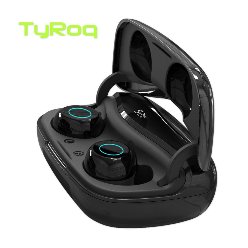 TyRoq <font><b>S9</b></font> Digital LED display TWS earbuds Wireless earphone <font><b>Bluetooth</b></font> 5.0 2500mAh Powerbank 115h Playing time for iPhone Samsung image