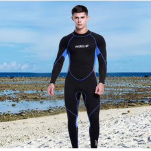 3mm Neoprene Divingsuits One Piece Full Body Surf Clothing Long Sleeve Diving Wetsuits Men Swimwear Scuba Swimsuits Jumpsuit New