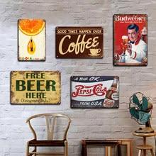 Guinness cola sinal de metal da lata do vintage cerveja adesivo de parede decorativo placas retro pub bar cozinha decoração placa personalidade decoração