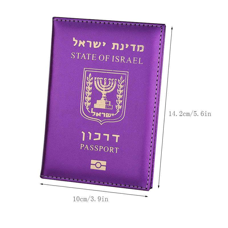 Neue Israel Pass Schutz Abdeckungen Reise Frauen Kreditkarte Halter Fall PU Leder Passport Wallet Von Israelis Mädchen