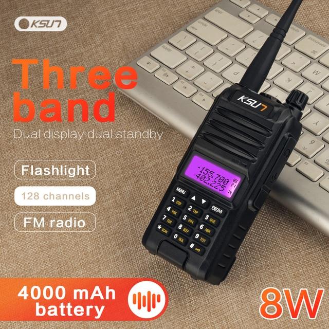 KSUN KS UV1D מכשיר קשר 8W גבוהה כוח חזיר שתי בדרך רדיו להקה כפולה Communicator HF משדר חובב Handy