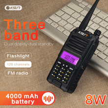 KSUN KS UV1D Walkie Talkie 8W High Power Two Way Ham Radio Dual Band Communicator HF Transceiver Amateur Handy