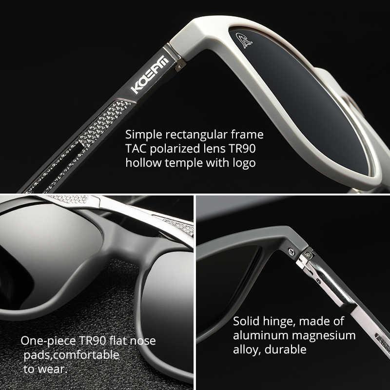 Kdeam forte primavera dobradiças revestimento polarizado óculos de sol homem luz tr90 quadro óculos de sol com pernas de alumínio magnésio