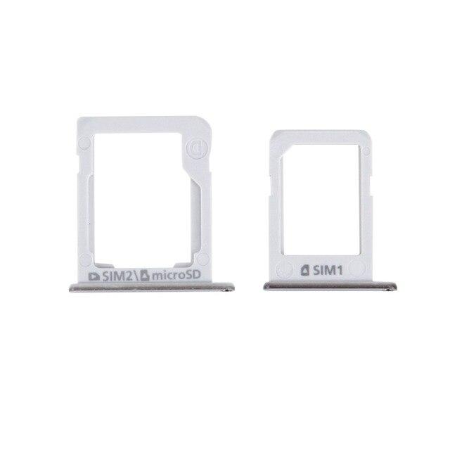 1Pcs Per La Galassia E5 (Versione Dual SIM) vassoio di Carta di SIM + Micro SD Vassoio di Carta Slot Adattatore Del Supporto Slot Parte di Ricambio