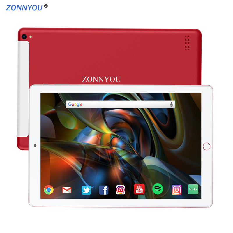 10.1 Inch Tablet PC New System Android 8.0 Octa Core 3G/4G Phone Call 4GB/64GB Dual SIM Card Dual SIM-kaart Wi-Fi IPS Tablet PC