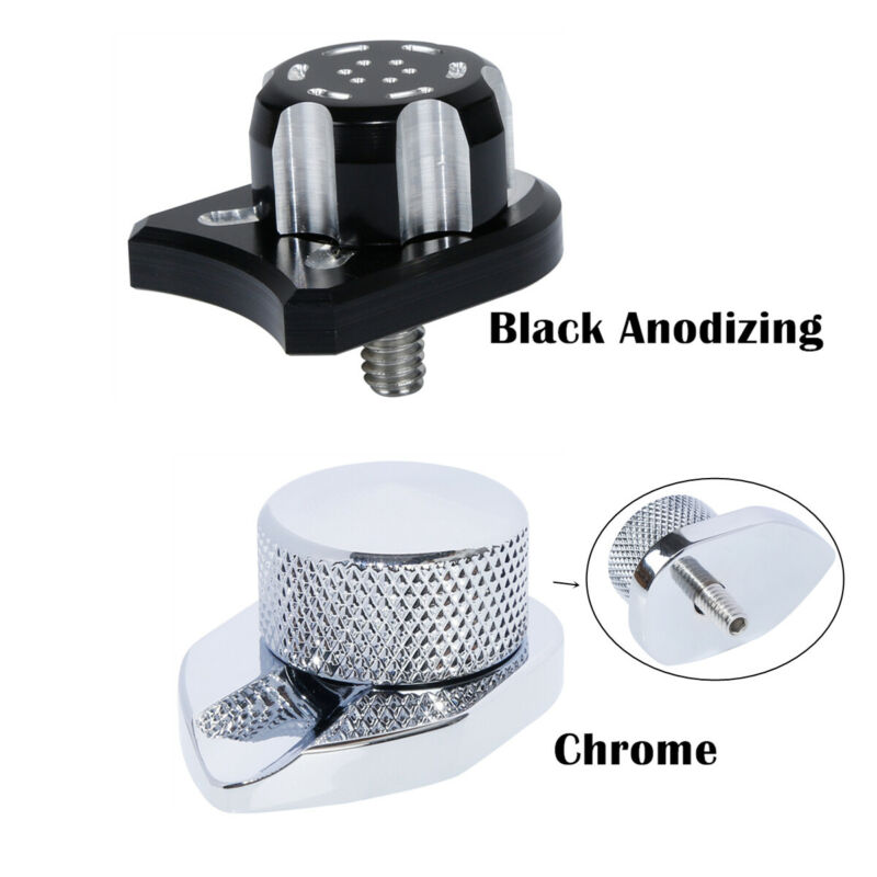 Motorcycle Seat Bolt Tab Screw Mount Knob Cover Nut For Harley Road King Street Wide Ultra Glide Dyna Sportster Softail 96-17