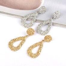 2019 Simple Water Drop Alloy Earrings For Women Luxury European Design Long Earring Fashion Female Accessories Wedding