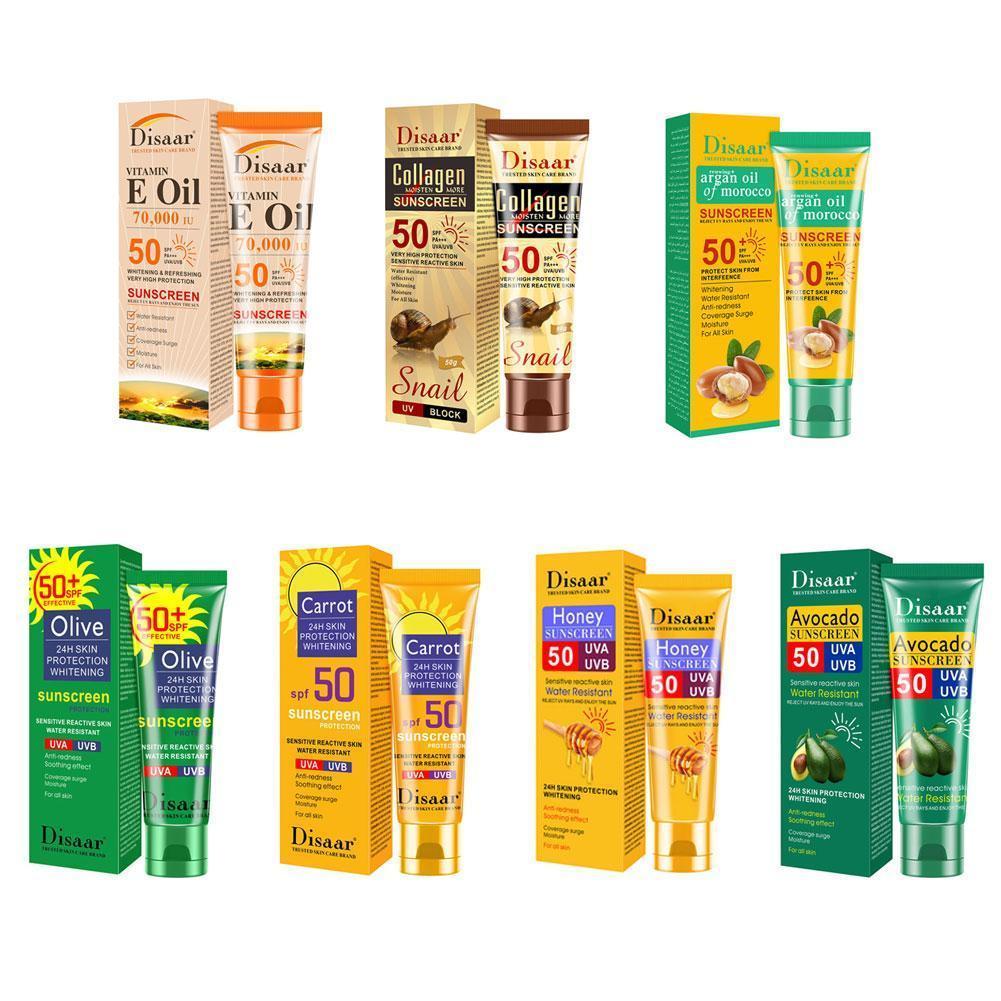 Collagen Snail Sunscreen Protetor Whitening Solar Uv Cream Sun Moisturizing Sunscreen Oil-control Radiation Screen Body SPF Z0X9