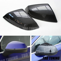 For Audi Q5 SQ5 Q7 SQ7 Carbon Fiber Look Rear View Mirror Cover 2016 20107 2018 2019 Q5 Q7 Mirror Cover|Mirror & Covers| |  -