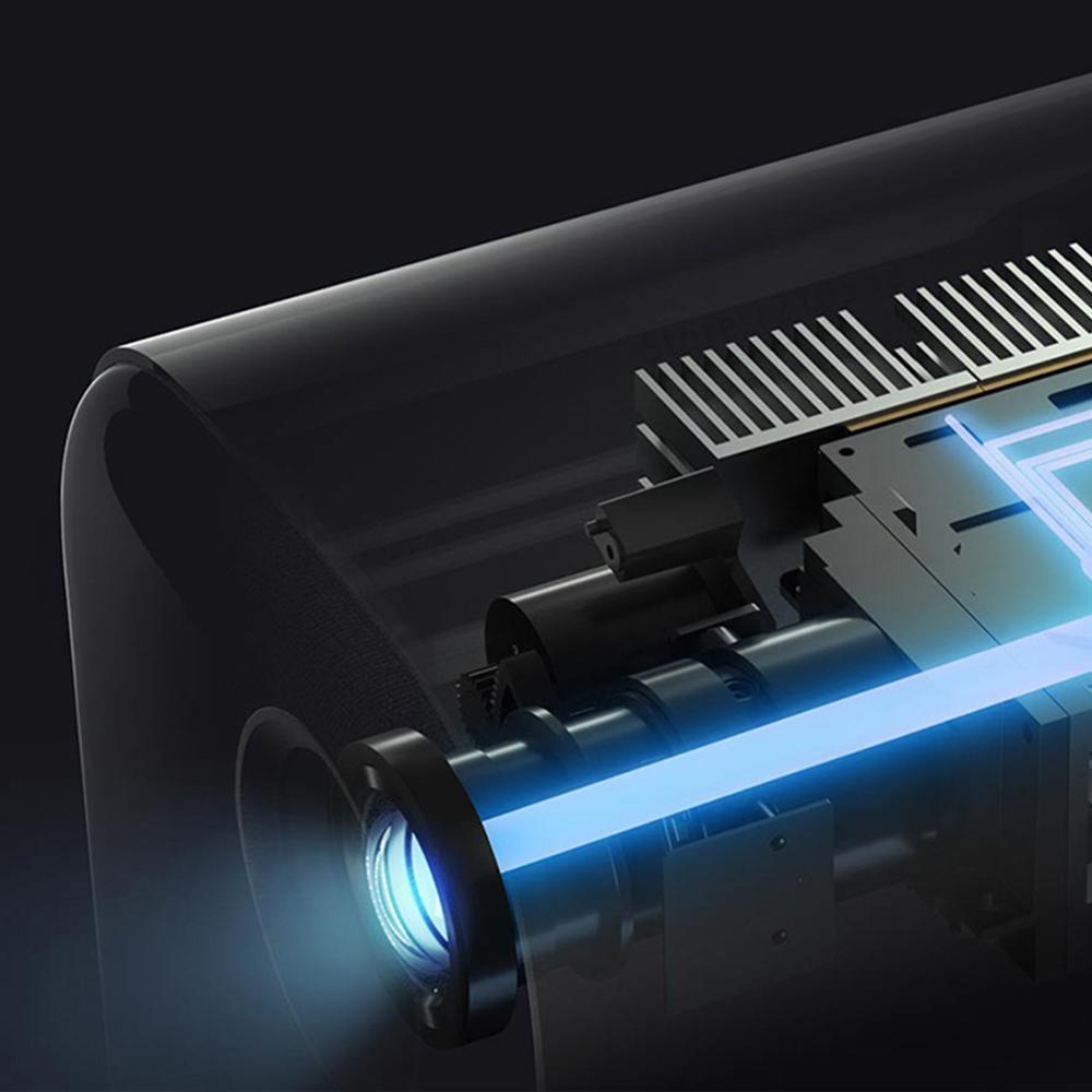 Xiaomi projetor inteligente para casa mini 3d 500 ansi lumens 1080p dlp dolby caixa de tv áudio foco automático correção keystone vertical-1