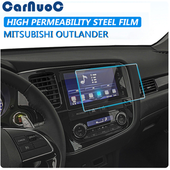For Mitsubishi Outlander 2016-2019 Accessories Car GPS Navigation Screen Tempered Glass Protective Film LCD Screen Sticker image
