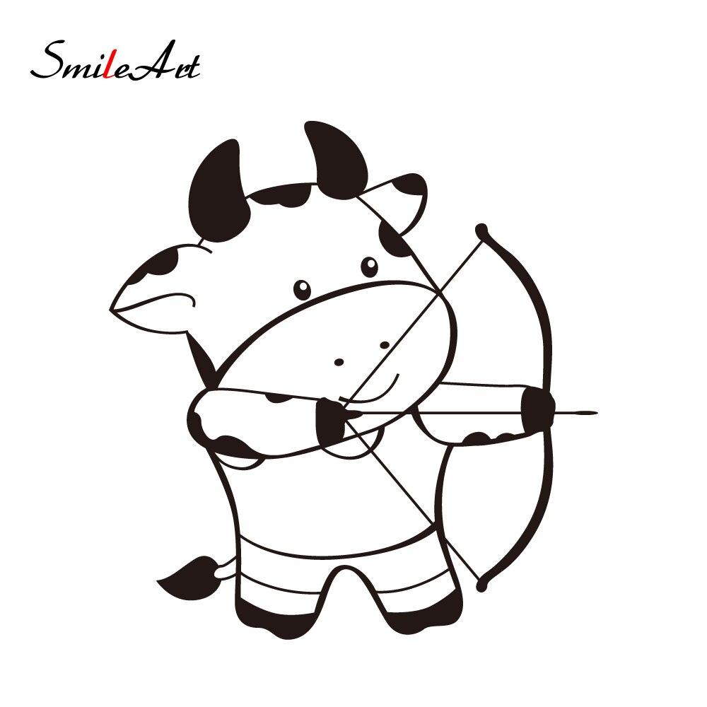 Cow Cartoon//Fun Reuseable Car Tax Disc Holder