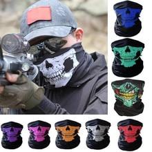 Череп Бандана теплая мотоциклетная повязка на голову с маской шеей теплый шарф велосипедный защита от пыли и ветра наружные головные уборы аксессуары