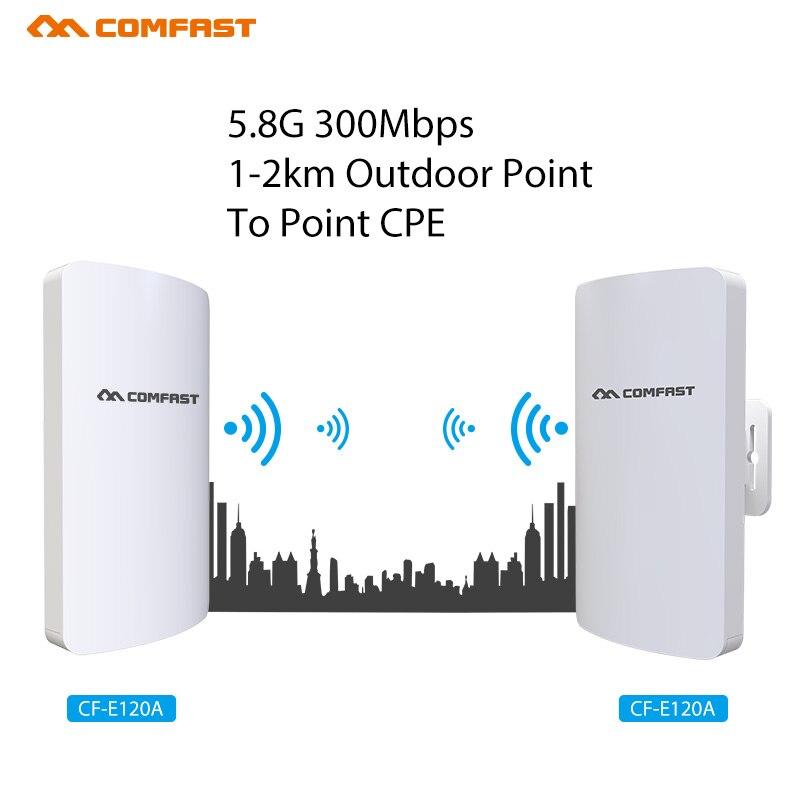COMFAST Long Range 1-2KM Outdoor Wireless AP Router Wi-fi Bridge 300Mbps 5.8Ghz WIFI CPE 11dBi WI-FI Antenna Nanostation Extend