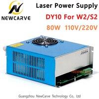 80 w fonte de alimentação do laser dy10 110 v 220 v para reci s2  w2 co2 tubo do laser máquina gravura newcarve