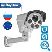 HD 1080P HD Mini bala Wifi cámara IP PTZ de Audio 5X Zoom enfoque automático de 2,7 13,5mm 2MP al aire libre CCTV inalámbrico de la Cámara de la visión nocturna IR