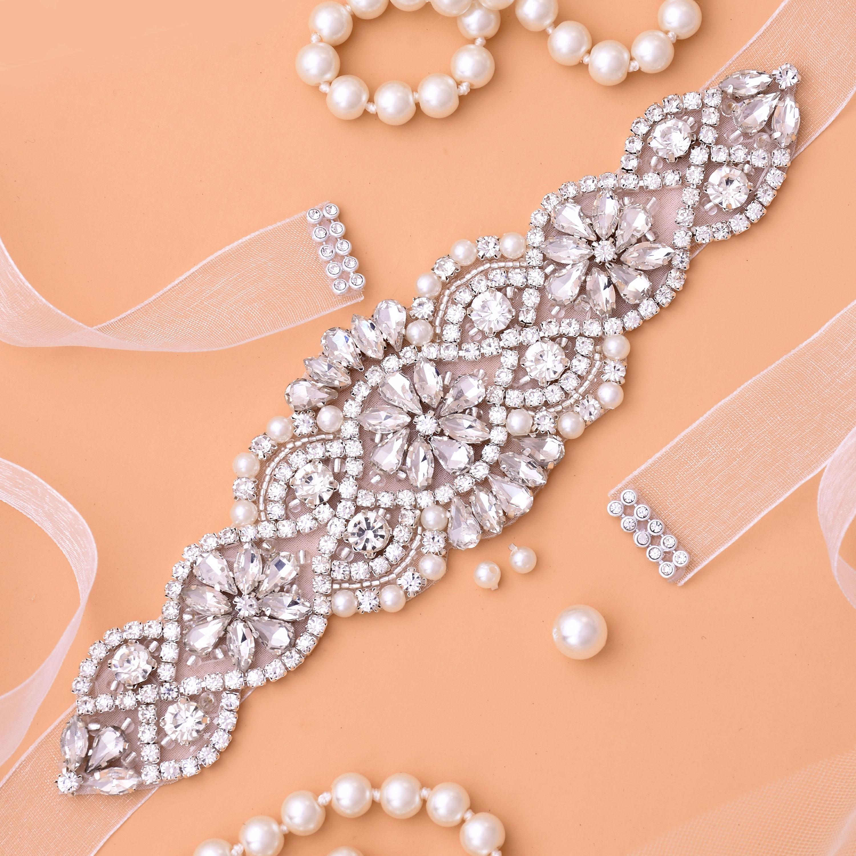 Rhinestones Bridal Belt Diamond Wedding Dress Belt Crystal Wedding Sash For Wedding Dress Accessories J104S