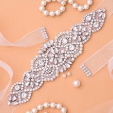 Cinturón de novia con diamantes de imitación, cinturón de novia de diamantes, banda de boda de cristal para accesorios de vestido de novia J104S