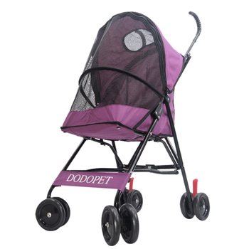 H1 Foldable Pet Stroller Portable Dog Trolley with Large Mesh Window Breathable  Carrier Aluminum Frame Bearing