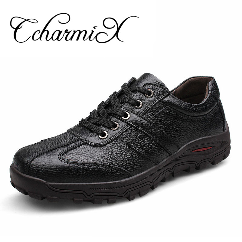 CcharmiX Plus Size 38-48 Men Handmade Fashion Shoes 100% Genuine Leather Luxury Mens Casual Shoes Italian Leather Male Footwear
