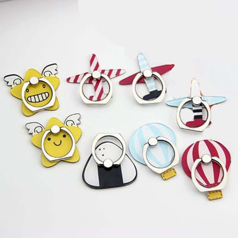 New Arrival Mobile Phone Holder Metal Finger Ring Holder Cute Aircraft & Parachute Phone Ring Holder Phone Stand Support