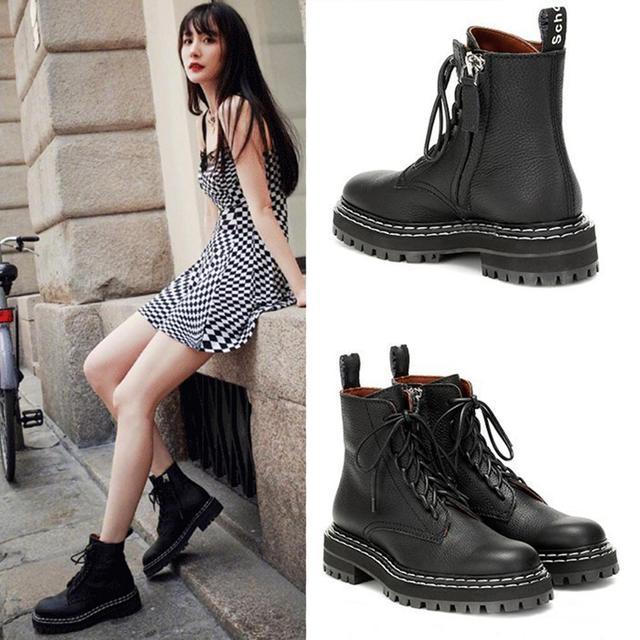 Doratasia 2020 big size 43 Fashion Martin Boots brand design Ankle Boots Woman Shoes shoelace cool Shoes Women Boots female