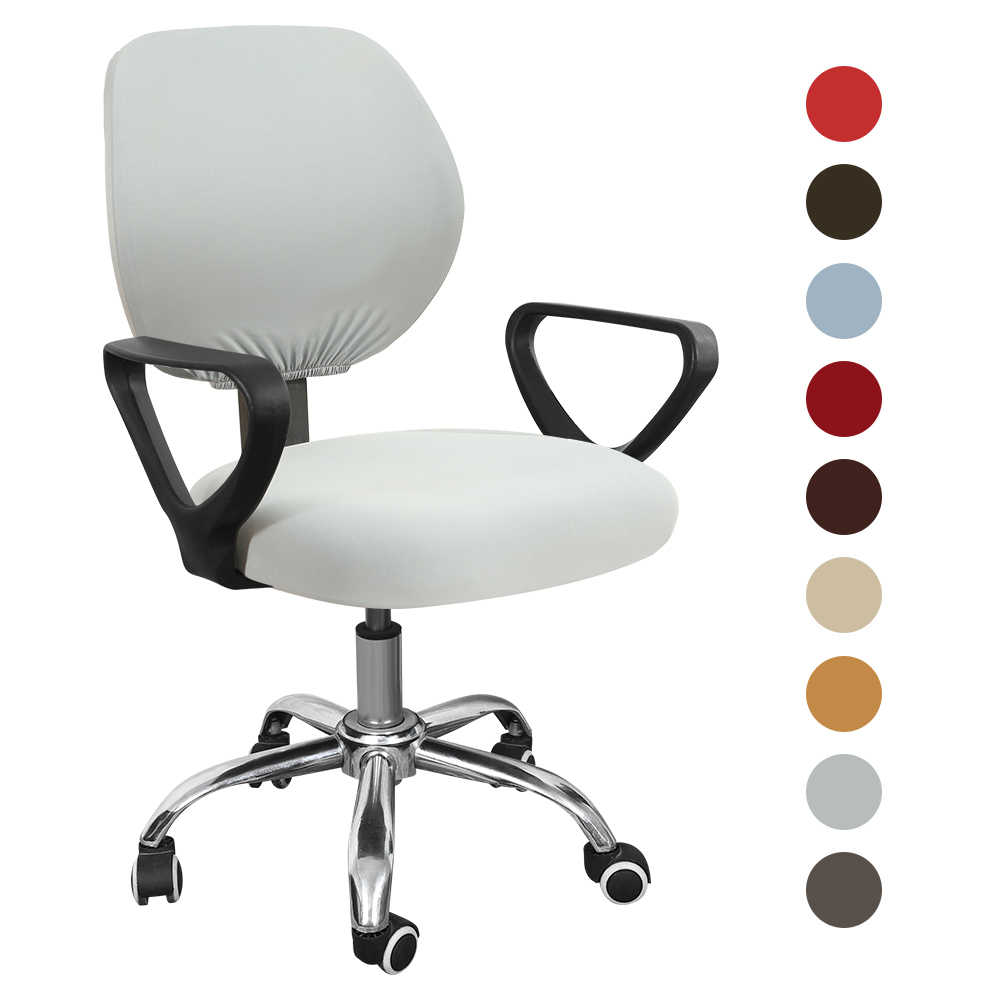 Universal Armchair Cover Swivel Computer Chair Cover Stretch Spandex Chair Protector Antidust Solid Home Office Seat Chair Cases Aliexpress