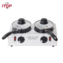 ITOP Electric Chocolate Cheese Melting Machine Ceramic Non-Stick Pot Chocolate Tempering Cylinder Melter Pan Ship From Germany
