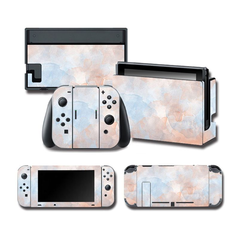 1Set Full Body Protective Cover Skin <font><b>Colorful</b></font> Sticker Art Decals for NS Switch <font><b>Game</b></font> Console Joy-Con Controller image