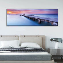Настенные картины с изображением заката пляжа пирса деревянного
