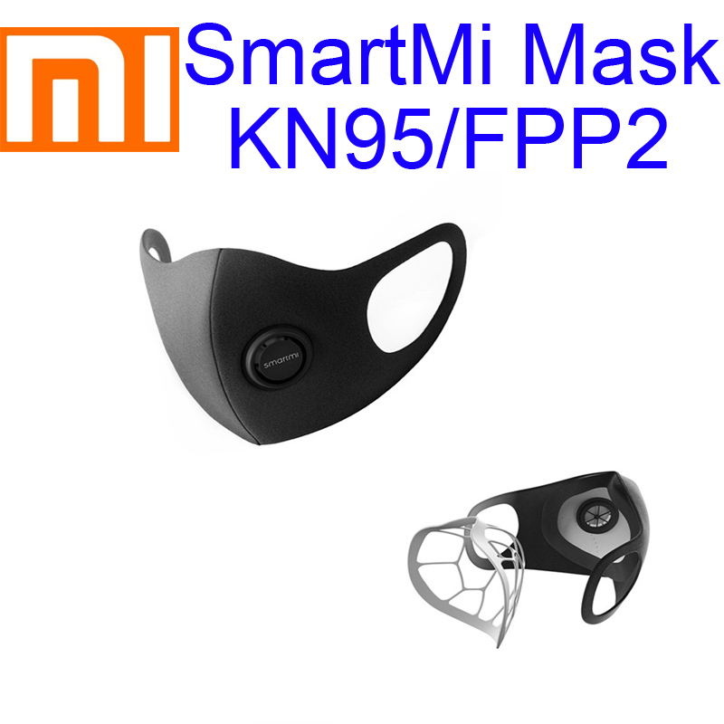Xiaomi Mi SmartMi Masks KN95 PM2.5 Haze Mask Anti-haze Face Mask Adjustable Ear Hanging Fashion 3D Design Light Breathing Mask