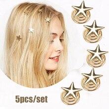 5pcs Romantic Beautiful Star Headdress Hair Combs Wedding Bridal Bridesmaid Hair Claws Pins Ornaments Headwear Accessories