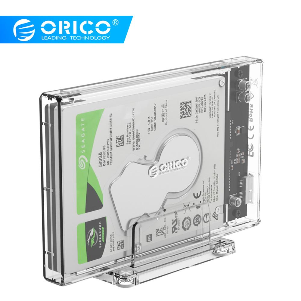2.5inch USB3.0//Type-C SATA HD Box SSD External HDD Enclosure Transparent Case
