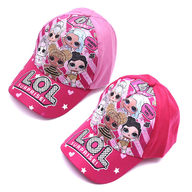 Original LOL Surprise Girls Hat Cartoon Doll Kid Duck Tongue Baseball Cap Birthday Party Theme One Piece Figure Gifts For Kids