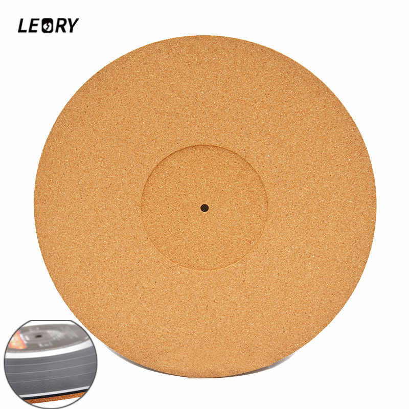 LEORY 1PCS 300mm 3MM Cork Wood LP Vinyl Turntable Record Pad Anti-skid Anti-static Recording Pad Soft Mat For Turntable Player