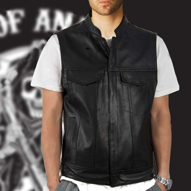 Sons Of Anarchy Jacket Vest Roblox Tv Sons Of Anarchy Cosplay Costumes Men Vest Leather Jacket Fashion Motorcycle Sleeveless Jacket Men Punkleather Punk Vest Faux Leather Coats Aliexpress