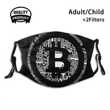 Bitcoin Black Circuit Face Mask Anti Dust Filter - Bitcoin Cryptocurrency Btc Crypto 1