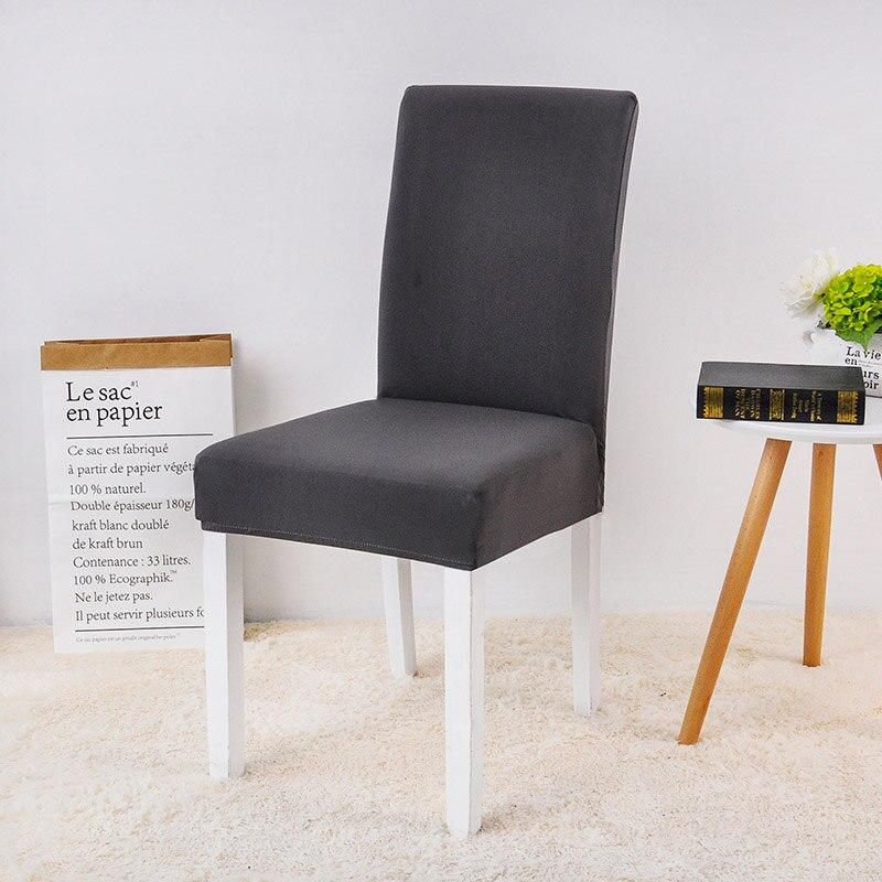 Funda elástica de LICRA para silla de comedor, cubierta elástica para silla, sólida