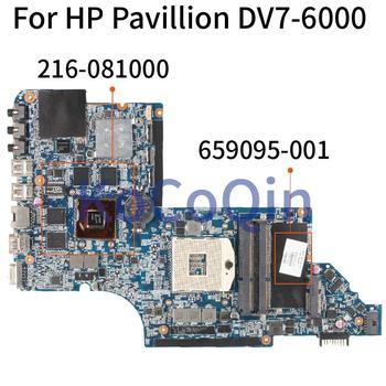 KoCoQin KEFU DV7-6000 motherboar 659095-001 655488-001 for hp Pavilion DV7 DV7-6000 655488-001 HM65 original test motherboard