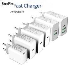 TYPE-C USB QC3.0 PD Fast Power Adapter 30W 45W 60W 65W 87W For MacBook Pro/Air Samsung iPhone Mobile