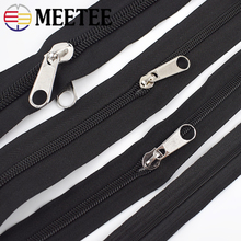 5/10Meters 3#5#8#10# Black Nylon Coil Zippers In Roll with Sliders for Luggage Bags Tent Zip Repair Sewing Accessories Craft