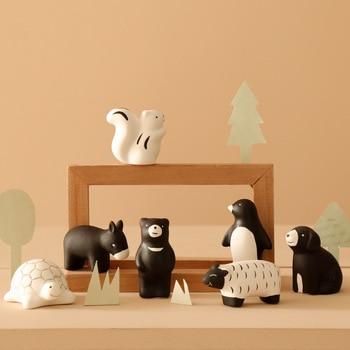 2020 New Creative Ceramic Miniature Figurine Cure Cute Animal Decoration Desktop Small Decoration Home Cute Decoration 1