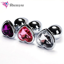 Anal Beads Crystal Jewelry Heart Butt Plug Stimulator Sex Toys Dildo Private Good Anal Plug Hot Sale Intimate Good for Women/Men
