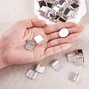 Image 3 - 100pcs Silver Color Brass Glue on Flat Pad Bails for Jewelry Making DIY Accessories Findings 18x15.5mm Hole: 4.5mm