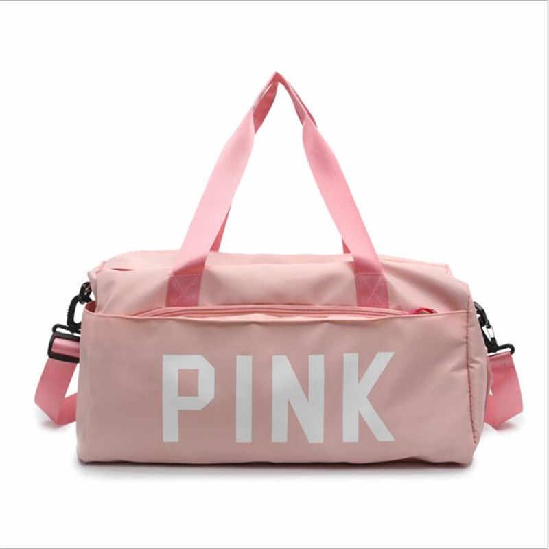 Su geçirmez Spor spor çantaları Çok Fonksiyonlu Kuru Islak Ayırma Çanta Spor Eğitimi Yoga omuzdan askili çanta Ile ayakkabı çantaları 2 Renk