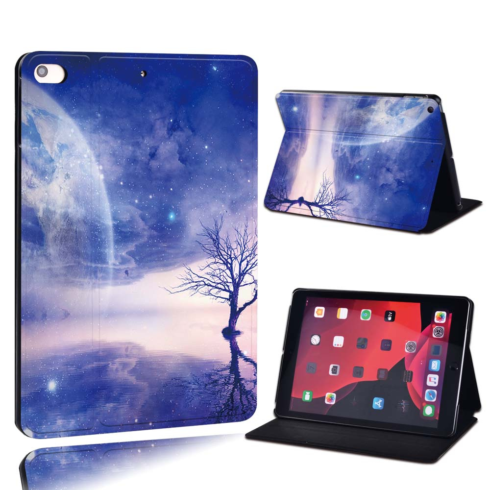 13.fantasy abstract Silver For Apple iPad 8 10 2 2020 8th 8 Generation A2428 A2429 PU Leather Tablet Stand